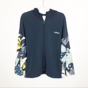 Adidas x FARM RIO Hooded Graphic Track Jacket L